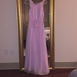 Jill Stuart silk pink goddess dress